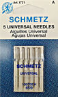 Schmetz 1721 Universal Sewing Machine Needles 130 /705H 15x1 Size 65 /9