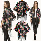 Women Boho Kimono Coat Cape Blazer Jacket New Casual Chiffon Top Shirt Size8-16