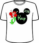 Many Tee Colors-Personalized Disney Head with Arial Little Mermaid T-Shirt