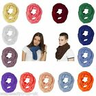 57029 Unisex Circle Loop Cowl Shawl Infinity Plain Scarf / Snood Season