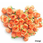 100 x Rose Artificial Silk Flower Head Wholesale Lot Clip Wedding Party Decor