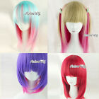 Lolita Style Short Straight Mixed Colors Lady Girls Fashion Cosplay Hair Wig