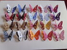 """50 3d 2TONE PEARLESCENT 2 INCH """" BUTTERFLY WEDDING TABLE CONFETTI CARD TOPPER"""