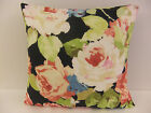 SHABBY CHIC-STYLE SINGLE CUSHION COVERS FLORAL RED PINK ROSES BLUE GREEN BLACK