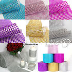 4.5'' 11cm Rhinestone Crystal Diamond Mesh Wrap Roll Platinum Ribbon Decor Upick