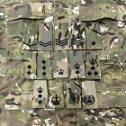 British Army Embroidery Multicam MTP Black Rank Slides