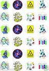 24 x PRECUT SCIENCE THEMED RICE/WAFER PAPER CUP CAKE TOPPERS