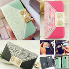 Deluxe Elegant Wallet Card Holder Leather Flip Case Cover For Various Phones Hot