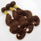 100% Brazilian human hair weft extensions weave color #4 brown 1 bundle 100g