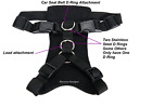 Dual Use Dog Chest Harness For Walking Or Doubles As A Car Harness