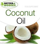 Organic Virgin Coconut Oil 1000mg Softgels Tablets Capsules Energy Weight Loss