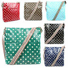 New Oilcloth Polka Dot Messenger & Cross Body Satchel College School Bag