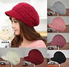 Women's Winter Warm Crochet Knitting Wool Beret Ski Beanie Ball Hat Cap 8 Colors