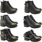 WOMENS LADIES LOW FLAT HEEL PULL ON STRETCH CHELSEA ANKLE RIDING SHOE BOOTS SIZE