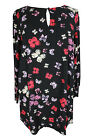 New Ladies Black Red Butterfly Print Tunic Top Plus Sizes 16 - 28