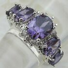 Size6 7 8 9 Gorgeous Purple Amethyst Jewelry Gold Filled Woman Gift Ring K845