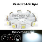 New 12V 74 / T5 SMD 1-LED light Lamp For Indicator Light White LED car light