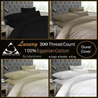 Luxury 100% Egyptian Cotton Duvet Covers Pillowcase Sing Double King Super King