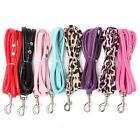 Small Dog Puppy Cat Pet Collar Leash Leather Long Lead Rope Strap Harness Belt