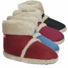 LADIES COOLERS FUR LINED WARM FAUX SUEDE FURRY SOFT SLIPPERS BOOTS UK SIZE 3-8