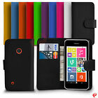 NOKIA LUMIA 530 FLIP WALLET PU LEATHER CASE COVER