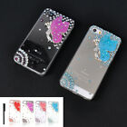 Luxury Bling 3D Crystal Angel Butterfly Case For iPhone 4/4S 5/5S + Stylus Pen