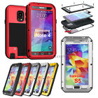 Gorilla Glass Aluminum Metal Shock/Water proof Case for Samsung Galaxy S5 I9600