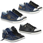Coole Damen & Herren Sneakers Jeans Denim Schuhe 99619 Gr. 36-45 New Look