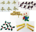 Christmas Cake Toppers - Pudding Decoration Holly Robin Merry Xmas Crackers