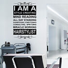 HAIR & BEAUTY SALON - Wall Art Sticker I AM A STYLE CREATING HAIRDRESSER