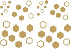 42 x HONEYCOMB Pack Stickers - car bike wall art window vehicles - graphic/decal