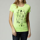 Fox Racing Womens Accelerated Crew Neck T-Shirt Tee Day Glow Green