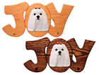 Maltese Dog Joy Leash Holder. In Home Wall Decor Wood Products, Pet Gifts