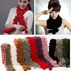 Chic Winter Warm Rabbit Fur Scarf Neck Scarves Wraper Shawl Wraps Elegant -Z