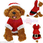 Christmas Santa Claus Dogs Puppy Costume Outwear Jumper Clothes Hoodie Coat