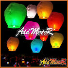 Welmotor Colorful/White Chinese Paper Sky Flying Fire Wishing Lantern Lamp Party