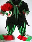 Childs Boys Girls Halloween Clown Outfit Costume Teenagers Scary NO WIG OR MASK