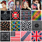 New Unisex 100% Cotton Paisley Bandanas double sided head wrap scarf wristband
