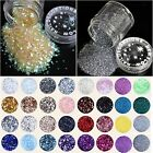 1 Bottle of 46 Types Acrylic UV Nail Art Glitter Powder Dust Tips Decoration