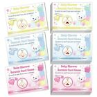 SCRATCH CARDS - STARS [10]Baby Shower Party Game Boy Blue Girl Pink Unisex 1 Win