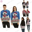 Mens Womens Unisex Studded British Bulldog Christmas Xmas Sweater Dress Jumper