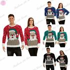 Mens Womens Unisex Oversized Santa on Wall Christmas Xmas Sweater Dress Jumper