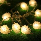 5m 20led Pine Cone Fairy String Light Waterproof Christmas Outdoor Decor D11