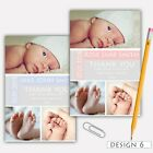 Personalised Photo NEW BABY Boy / Girl Birth Announcement / Thank You Cards