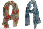 "Cejon Women's Floral Python Print Wrap Scarf, 71"" x 22"" -- Choose Color!"