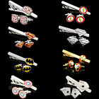New Mens Superhero Stainless Steel Wedding Gift Cufflinks Tie Clip Pin Clasp Bar