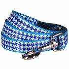 Blueberry Pet Dogs Leash Classy Houndstooth Statement Standard Dog Leash