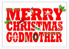 PERSONALISED CHRISTMAS CARD GODMOTHER GODFATHER GODPARENTS XMAS