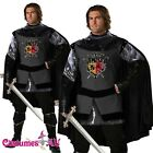Mens Valiant Medieval Knight Renaissance Fancy Dress Adult Costume