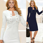 BIG SALE Women's Long Sleeve Bodycon CAREET,Cocktail Party Clubwear Pencil Dress